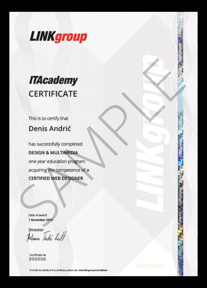 Sertifikat o završenom školovanju ITAcademy