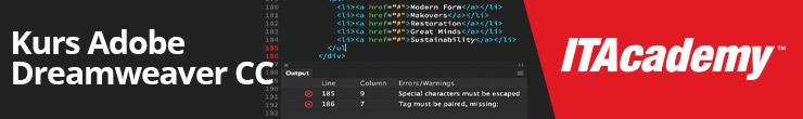Kurs Adobe Dreamweaver CC