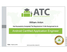 Android Certified Application Engineer