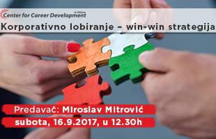 Besplatni seminari: Korporativno lobiranje – win-win strategija
