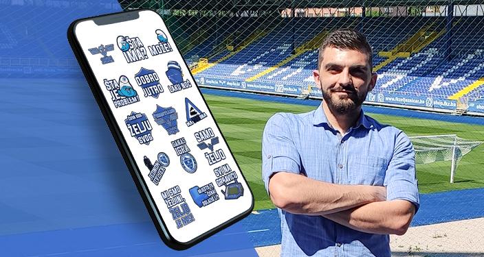 Viber stikeri za klub Željezničar - Adem Ćatić