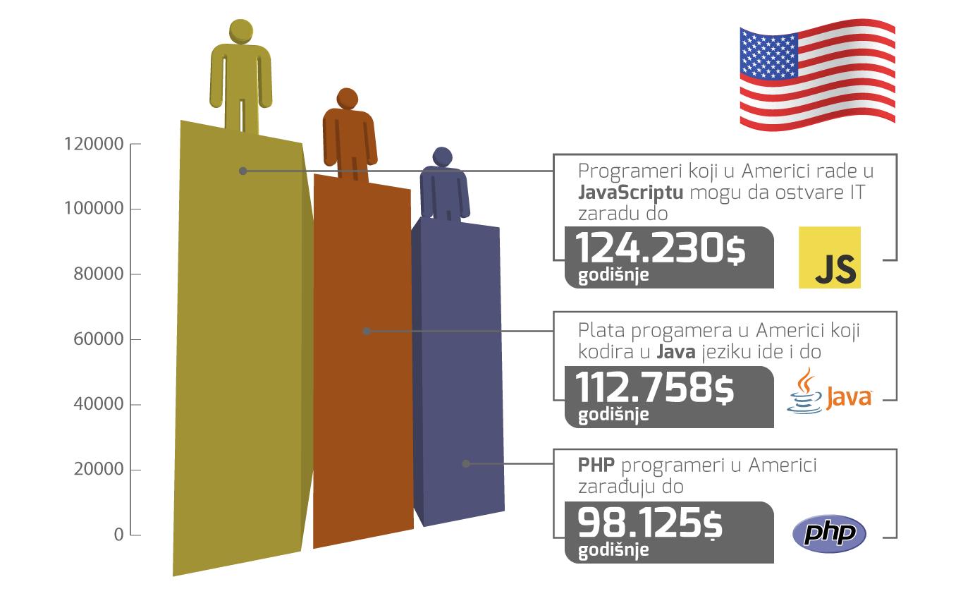 plate programera u inostranstvu SAD 2019