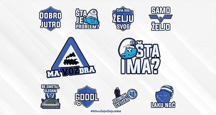 Viber stikeri - Fudbalski klub Željezničar