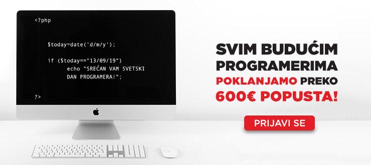 Srećan Dan programera! Poklanjamo Vam preko 600€ popusta