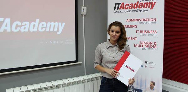 Dobitnica stipendije ITAcademy je Marija Marković
