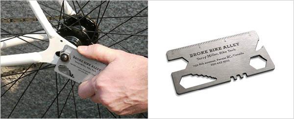 ključ za bicikl kao vizit karta