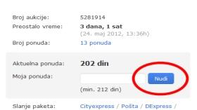 Upadljivo dugme na sajtu Limundo