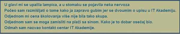 odluka polaznika Borislava Đačanina