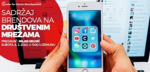 Informacije o vremenu i mestu održavanja seminara Sadržaj brendova na društvenim mrežama