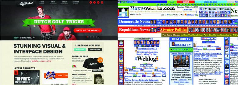 Raspored sadržaja na internet stranicama