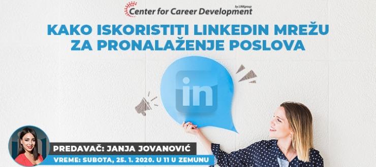Infomacije o održavanju seminara Kako iskoristiti potencijale Linkedin mreže