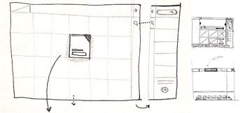 skica web dizajn layouta