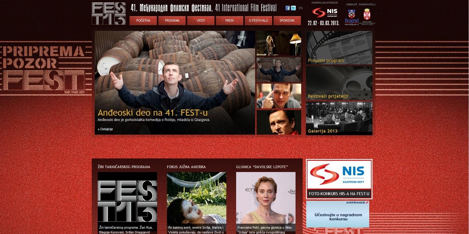 struktura sajta 41.Fest-a