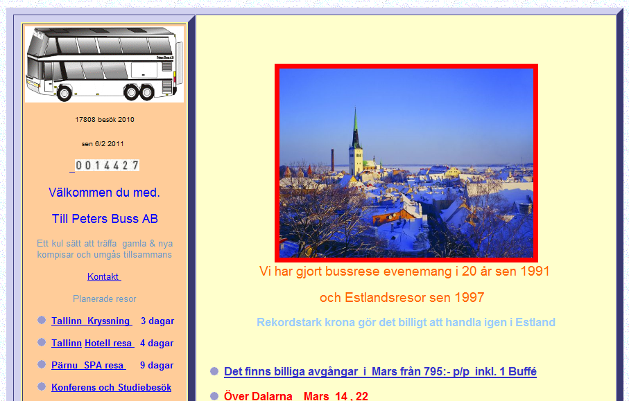 Primer loše organizovanosti sajta