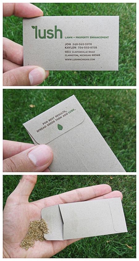 vizit karta sa semenom za sadnju