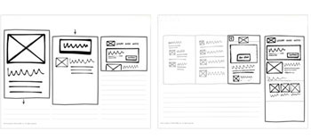 web dizajn na papiru